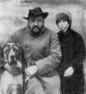 А. И. Купирн с дочерью Ксенией и Сапсаном