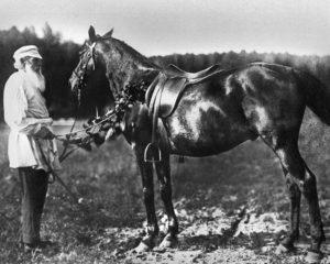 Л. Н. Толстой и его рысак