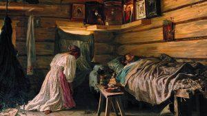 В. Максимов. Больной муж., 1881 г.