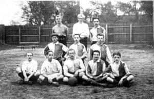 Виталий Бианки – второй справа в первом ряду